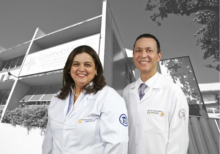 Profa. Dra. Maria Aparecida de Andrade Moreira Machado, Superintendente e Prof. Dr. Carlos Ferrreira dos Santos, Superintendente substituto do HRAC-USP. (Foto Original: Denise Guimarães - FOB-USP)