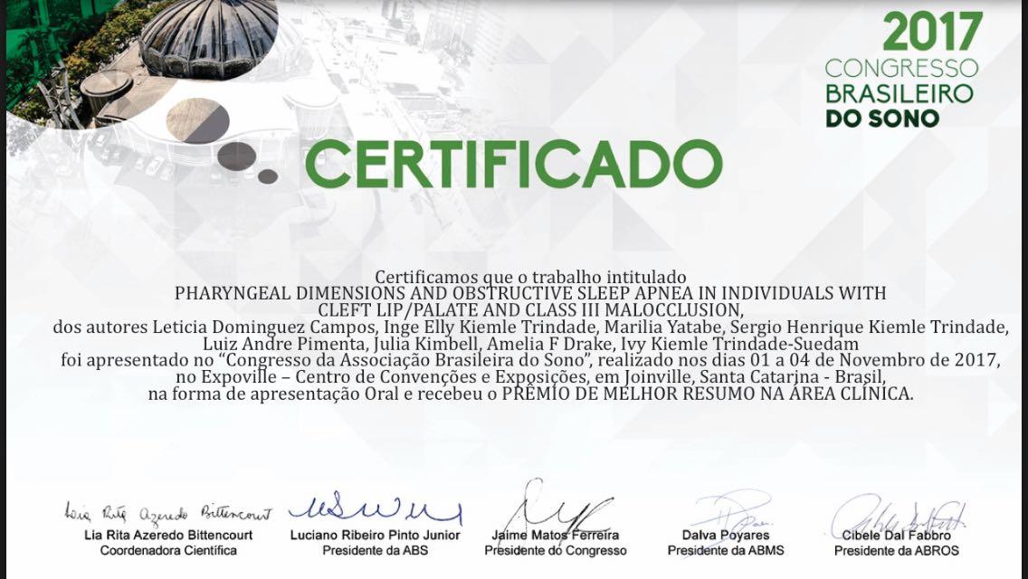 Trabalho de pesquisadores do HRAC-USP é premiado no Congresso Brasileiro do Sono
