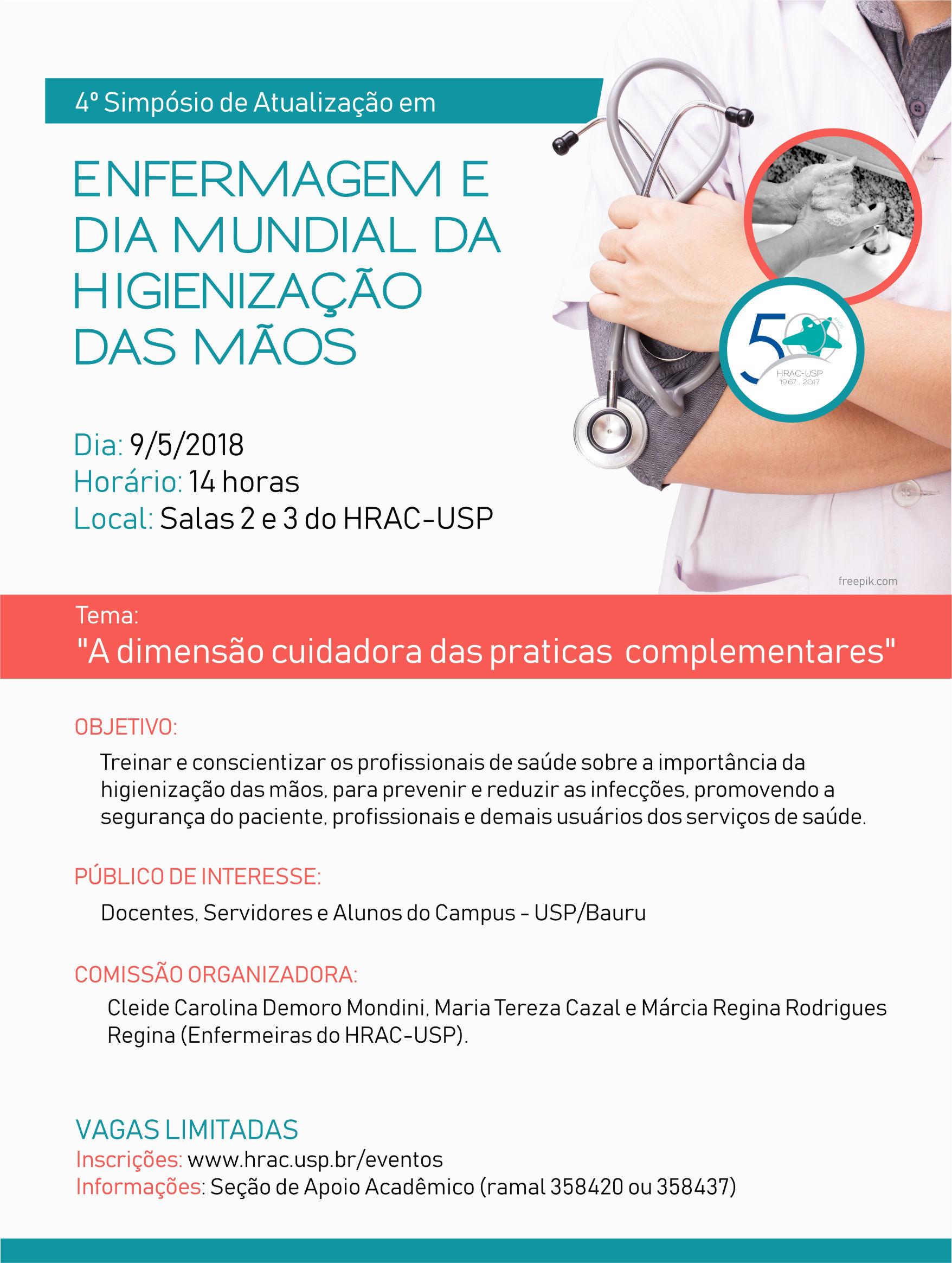 4º Simpósio de Atualização em Enfermagem do HRAC-USP - 09 de maio de 2018