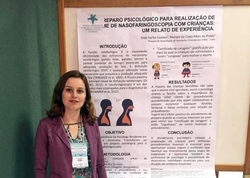 Residente do HRAC-USP é premiada em jornada de psicologia hospitalar