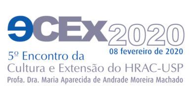 (Português do Brasil) <strong><em>Vem aí… </em>5º Encontro da Cultura e Extensão do HRAC-USP • 08 de fevereiro de 2020</strong> • <em>Inscrições abertas e GRATUITAS!</em>