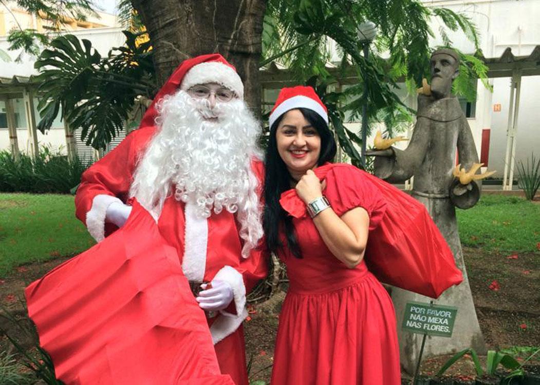 Festa de Natal das crianças do HRAC-USP