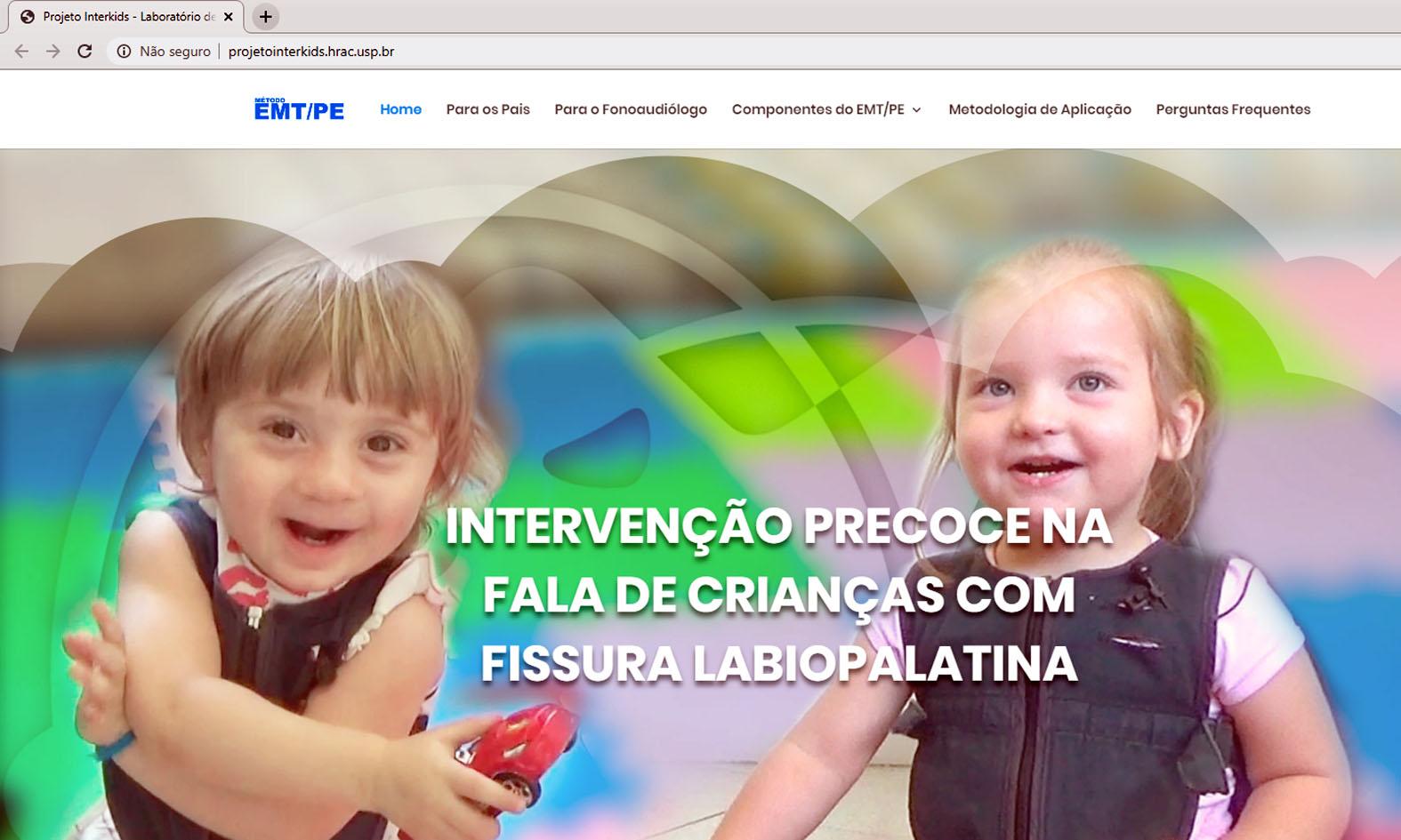(Português do Brasil) Site apresenta estratégias para estimular a fala de crianças com fissura em idade precoce