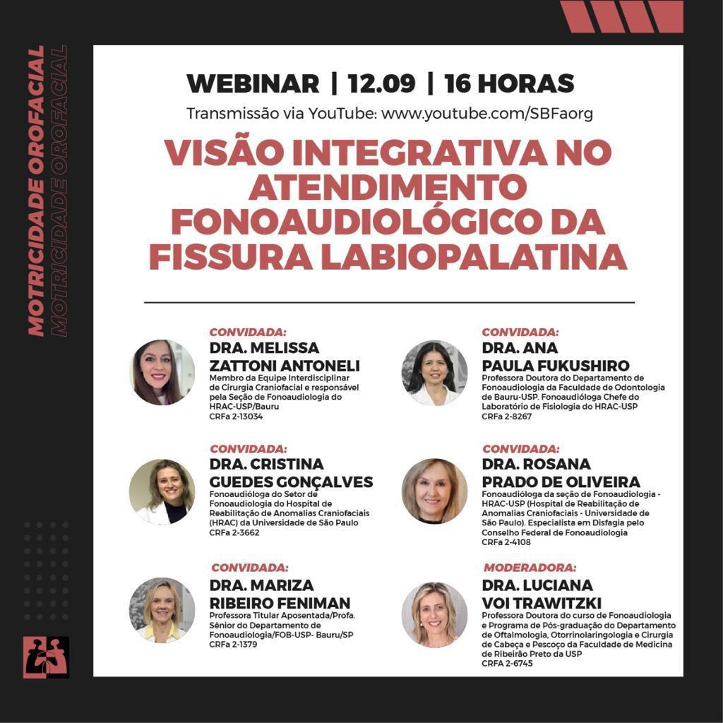 (Português do Brasil) Fonoaudiólogas da USP-Bauru ministram webinar sobre visão integrativa no atendimento da fissura