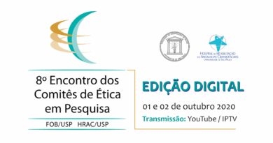 <strong>8º Encontro dos Comitês de Ética em Pesquisa • dias 01 e 02 de outubro de 2020</strong>